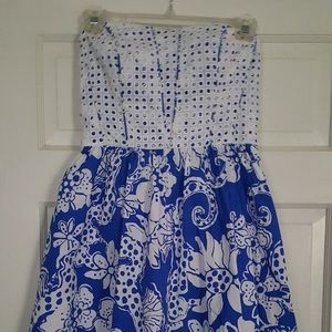 Lilly pulitzer strapless dress-Size 2